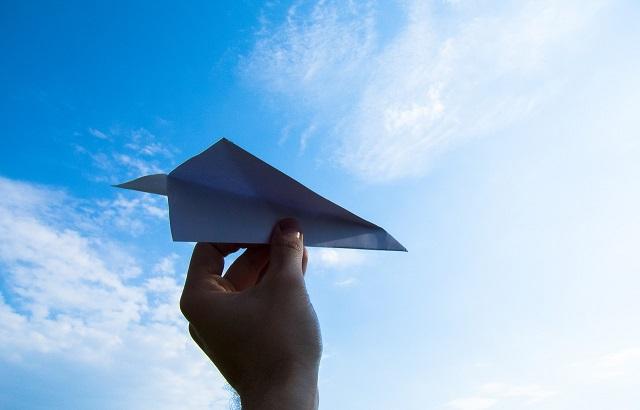 一紙飛機,寄語我對爸爸的思念