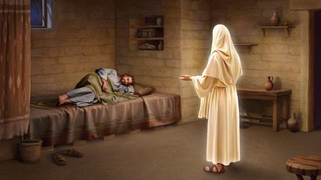 主的使者向約瑟夢中顯現