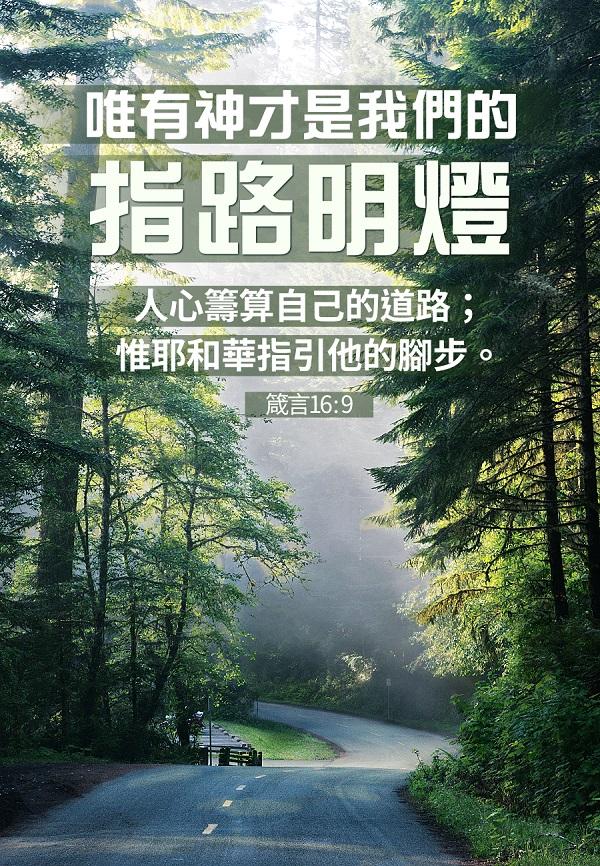人心籌算自己的道路;惟耶和華指引他的腳步。 箴言 16:9